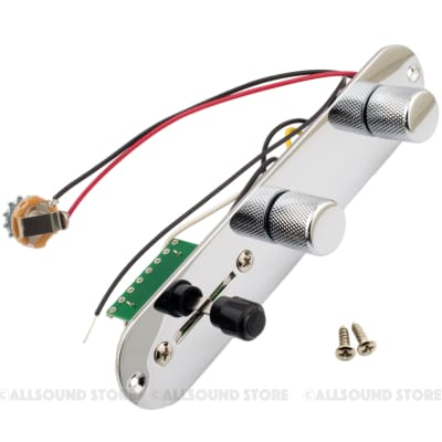 Pre-Wired Loaded Control Plate for Fender Telecaster Tele - CHROME