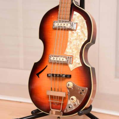 Hüttl Beat Bass Model 802 – 1960s German Vintage Archtop Beatles Bass Guitar / Gitarre for sale