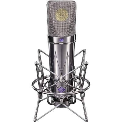 Neumann U 87 Rhodium Edition Set Limited Edition Large Diaphragm Multipattern Condenser Microphone