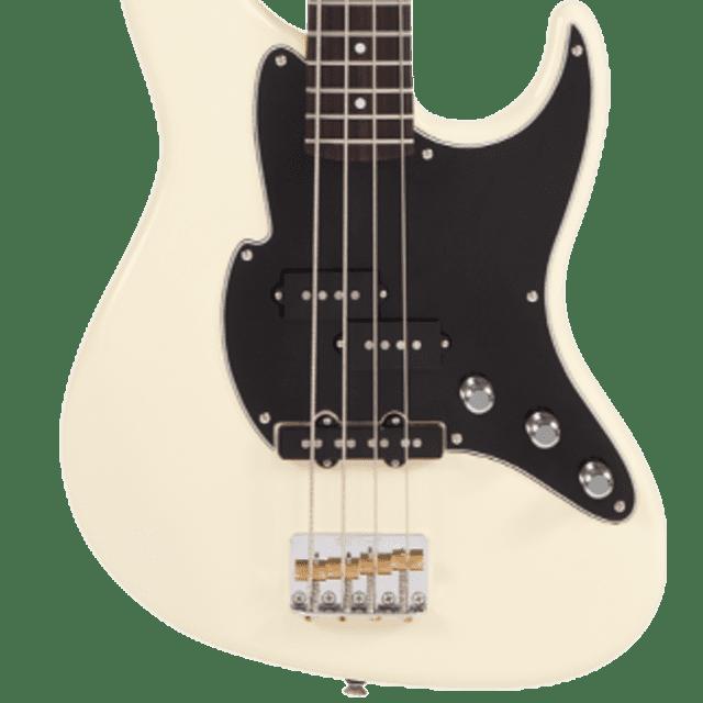 Fret-King Black Label Perception Bass FKV4VW Vintage White, New, Free Shipping image