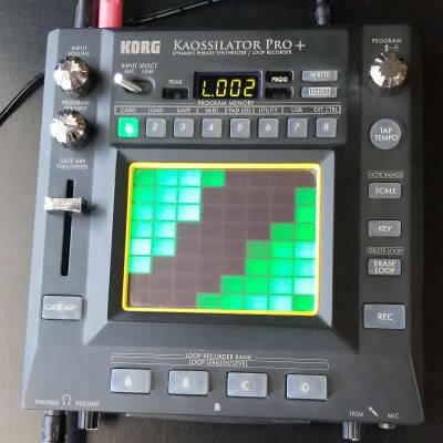 Korg Kaossilator Pro+ Phrase Synthesizer/Looper + Stereo cord to hook up gear!
