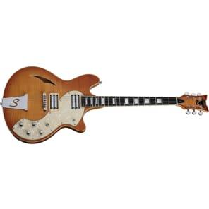 Schecter T S/H-1 Classic Vintage Natural Burst VNB Semi-Hollow Electric Guitar for sale