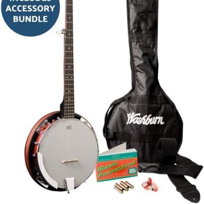 Washburn Americana Banjo B8-Pack with Gig Bag