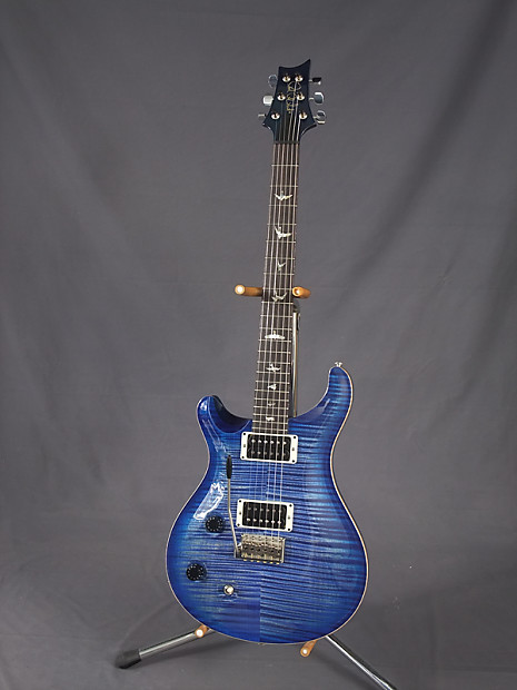 prs custom 22 left handed blueburst 10 top reverb