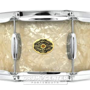 Montineri Custom Maple Snare Drum 14x6.5 Very Vintage White Diamond Pearl