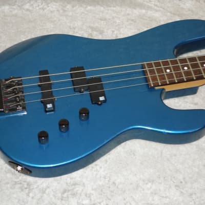 Charvel 2B bass guitar in blue finish with ORIGINAL case and Seymour Duncan pu's for sale