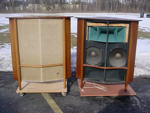 Early Pair Altec The Laguna 830A 830-A Speaker Systems with 803A 803-A  Woofers