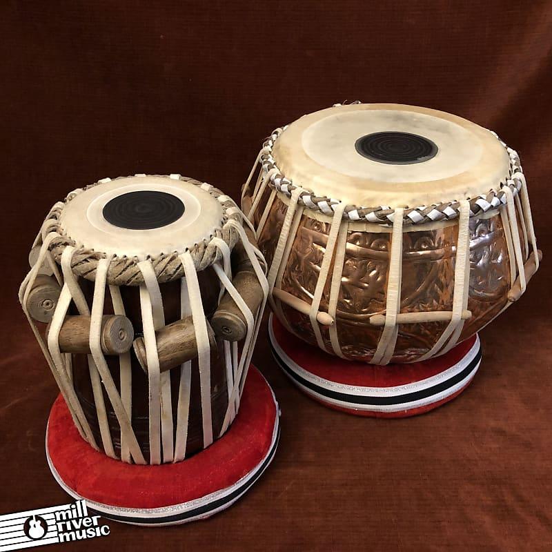 SAI Musicals TB-0091 Hand Made Copper / Sheesham Wood Tabla Set w/ Gig Bag
