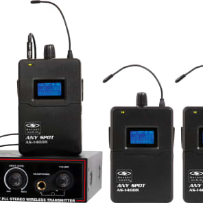 Galaxy Audio AS-1400-4M Any Spot Wireless In-Ear Monitor System (4 Receivers)