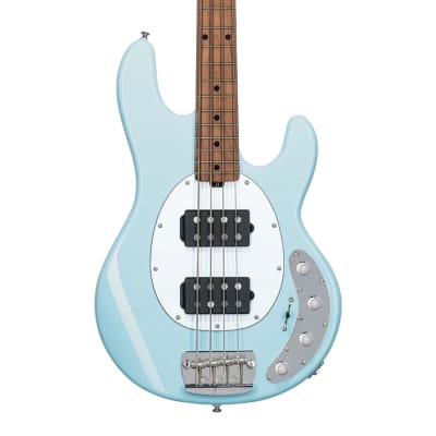 Sterling by Music Man StingRay RAY34HH, Daphne Blue with Roasted Maple Neck for sale