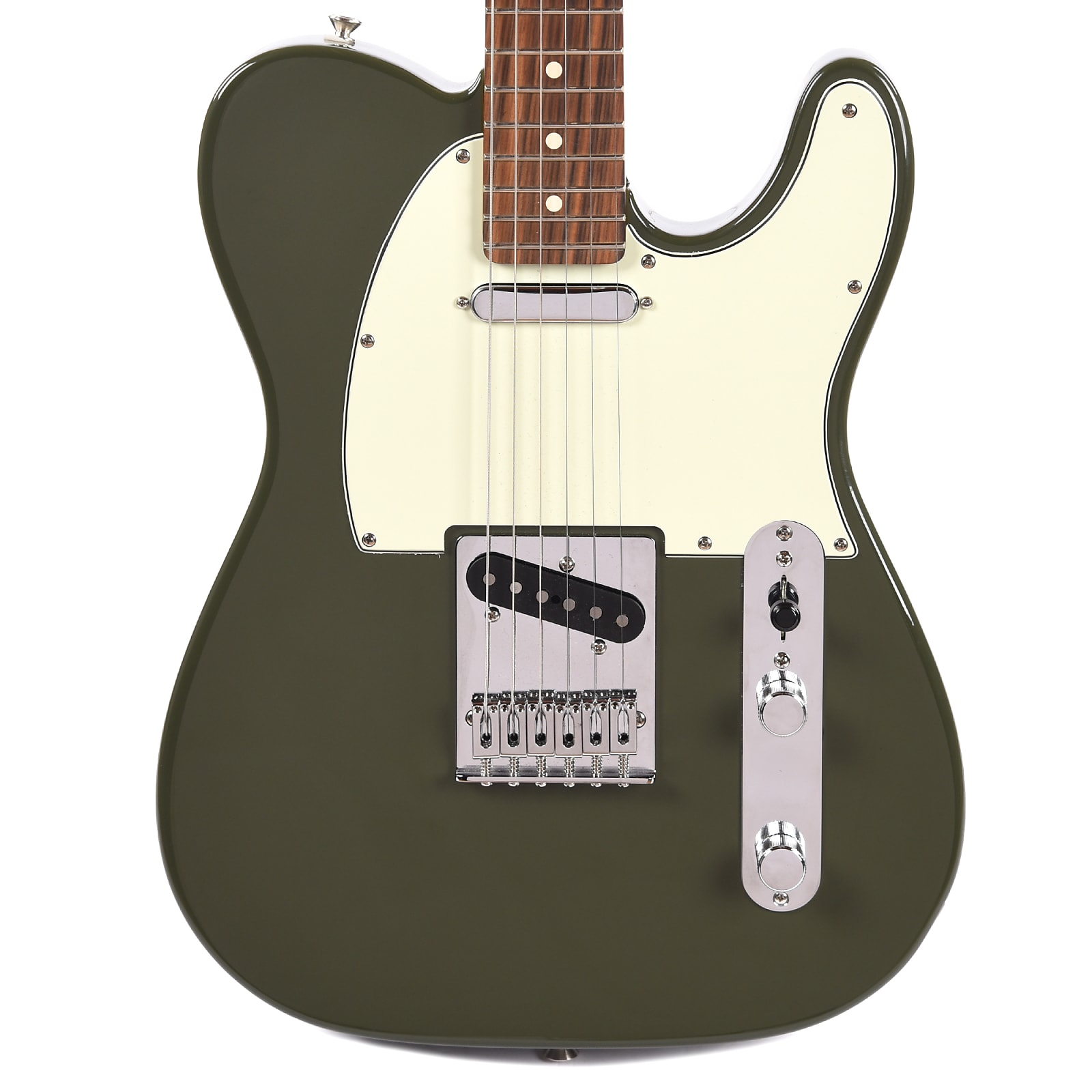Fender Player Telecaster Olive w/3-Ply Mint Pickguard (CME Exclusive)