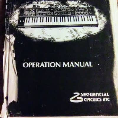 Sequential Circuits Prophet-600 Programmable Polyphonic Synthesizer Owner's Manual