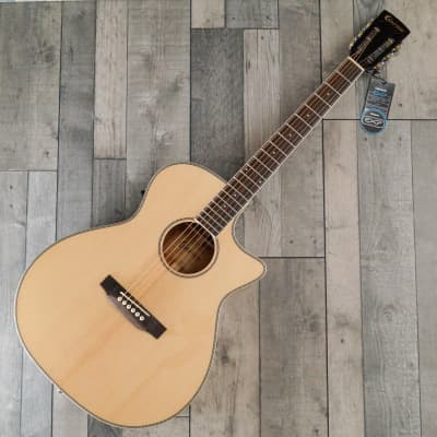 Crafter RG-600CE/N. Grand Auditorium Electro Cutaway Steel String Acoustic Guitar, Gloss Natural for sale