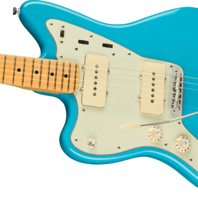 PRESALE! American Professional II Jazzmaster Left-Hand, Maple Fingerboard, Miami Blue for sale