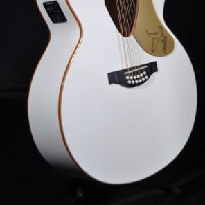 Gretsch G5022CWFE 12-String Jumbo Rancher Falcon Acoustic Electric Guitar White for sale