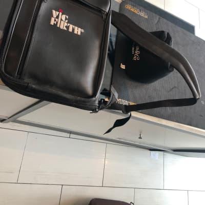 Vic firth Leather stick bag 80s  Black