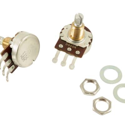 Bourns Pro Audio 500K Audio Taper Pot 3/8 Bushing Length, 24 Tooth Split Shaft
