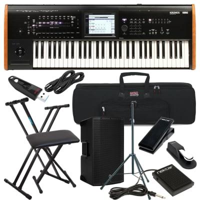 Korg Kronos 2 61-key Synthesizer Workstation, Keyboard Stand, Bench, Mackie Thump12A, Speaker Stand, Nektar NP-X, Nektar NP-1, Sustain Pedal, (2) 1/4 Cables, Gator GKB-61 Bag, USB Stick 32GB Bundle