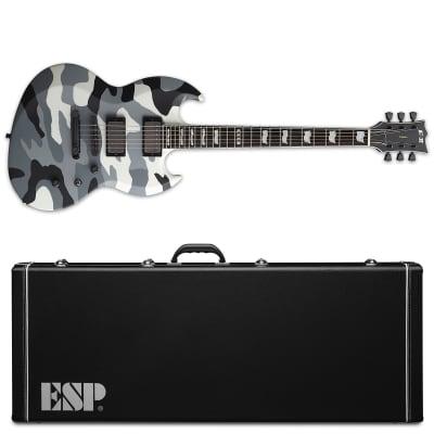 ESP E-II Viper Urban Camo Electric Guitar + Hard Case Made in Japan for sale