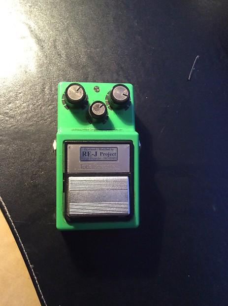 Analogman/IBANEZ Modded TS9/808 Tube Screamer Silver Mod green