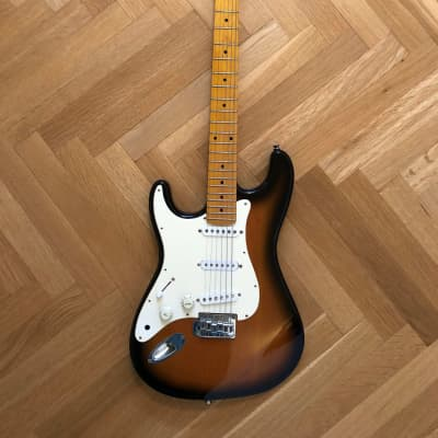 Hohner Left Handed Hohner ST57 1980's Vintage Sunburst Electric Guitar 1980's Sunburst for sale