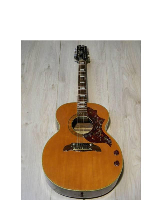 tolle Arnold HOYER Elektro Akustik 12string Jumbo GITARRE guitar Germany 1970s Player image
