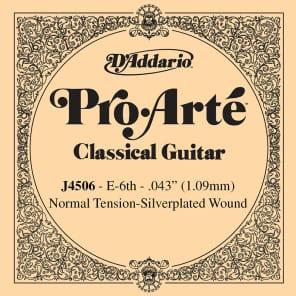 D'Addario J4506 Pro-Arte Nylon Classical Guitar Single String Normal Tension Sixth String