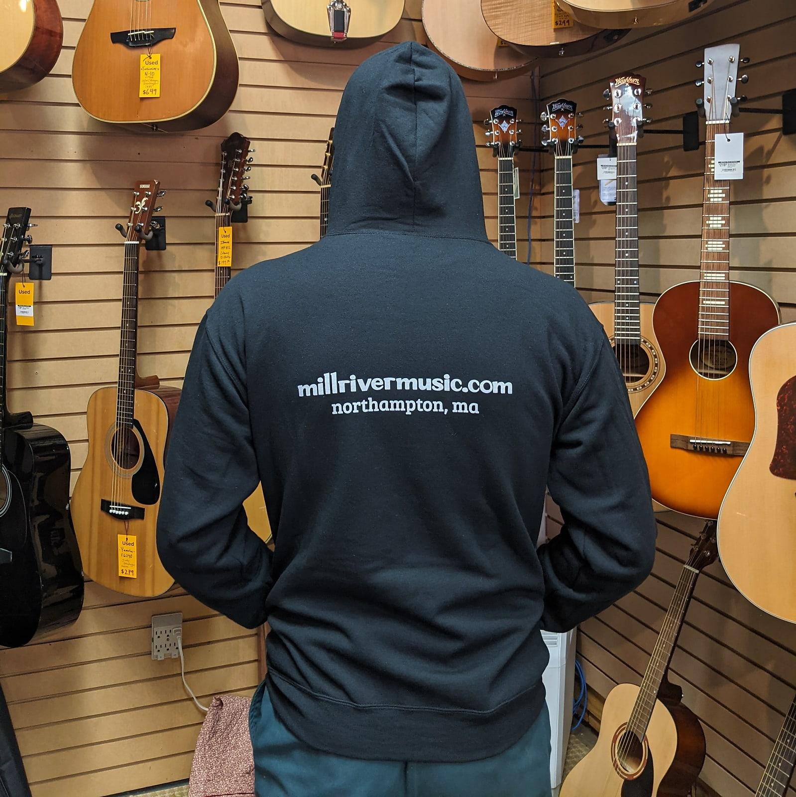Mill River Music Zip Hoodie 1st Edition Main Logo Unisex Charcoal Heather Medium