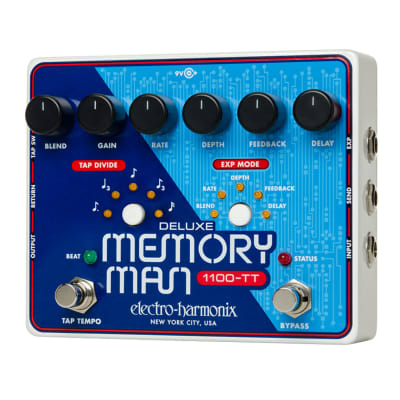 Electro-Harmonix Deluxe Memory Man with Tap Tempo 1100 (Reissue)