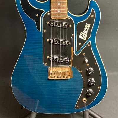 Burns London Marquee Shadow Electric Guitar Transparent Blue