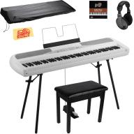 Korg SP-280 Digital Piano - White w/ Furniture Bench, Stand