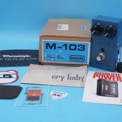 MXR Blue Box Script Logo Reissue w/Original Box | Rare 1990s Script Logo M-103 | Fast Shipping!