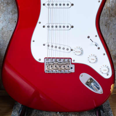 1997 Fender USA California Series Stratocaster Candy Apple Red Rosewood fretboard guitar for sale