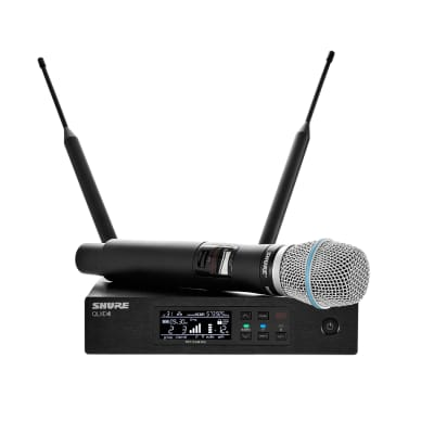 Shure QLX-D Series Single-Channel Digital Wireless Mic System with Beta 87A Handheld - 902-925 MHZ
