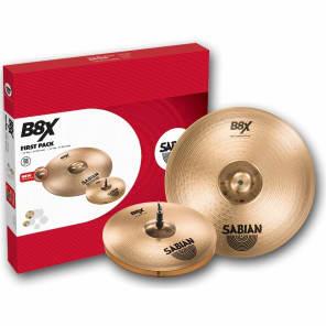 "Sabian B8X First Pack 14"" Hi-Hats/16"" Crash Cymbal Pack"