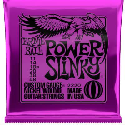 Ernie Ball Guitar Strings Power Slinky 11-48 Nickel Wound Electric 2220