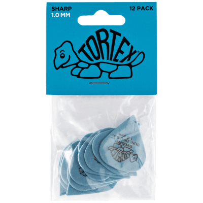 Dunlop Tortex Sharp Pick 12-Pack, 412P - 1.0