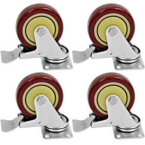 "Seismic Audio Locking 4"" Swivel Casters (4-Pack)"