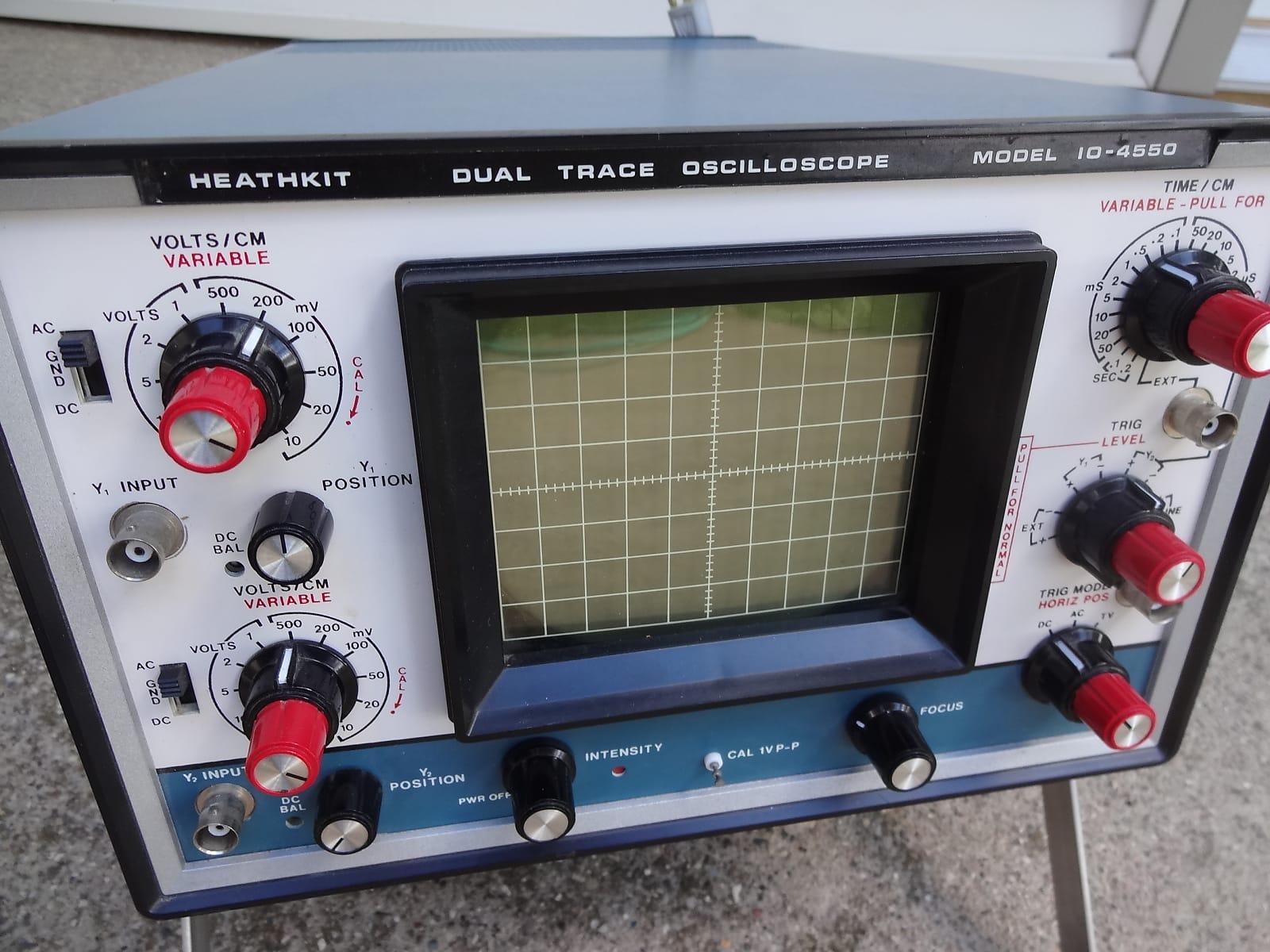 Heathkit IO-4550 Dual trace oscilloscope tube amp repair excellent