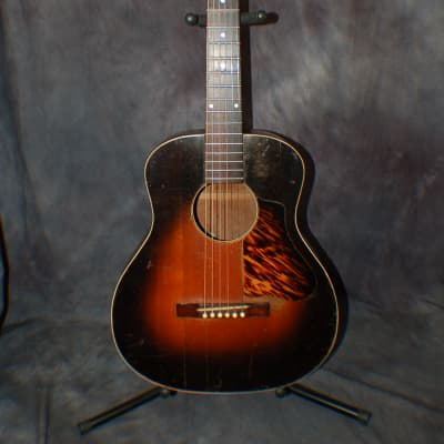 Video Demo 1935 Carson J Robison Cowboy Guitar Gibson Made for Wards L-OO Pro Setup Soft Case for sale