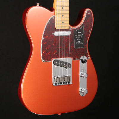 Fender Player Plus Telecaster, Maple Fingerboard, Aged Candy Apple Red 2985 7lbs 12.8oz