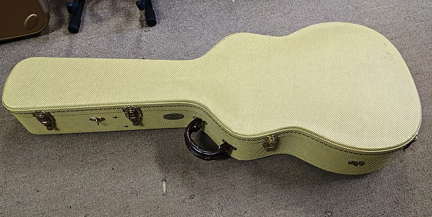 "f797b26a006 TKL 17"" Archtop Jumbo 6/12 String Guitar Case, Tweed, | Reverb"