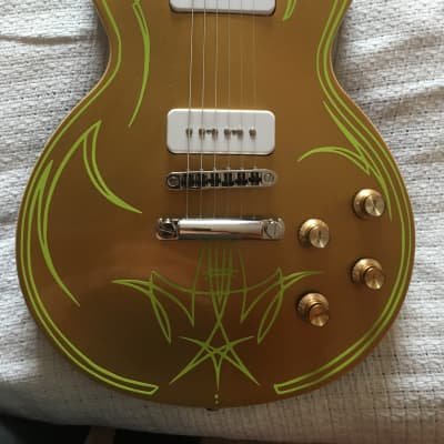 Custom Pinstripe Epiphone 56 Les Paul Goldtop Gibbons Style for sale