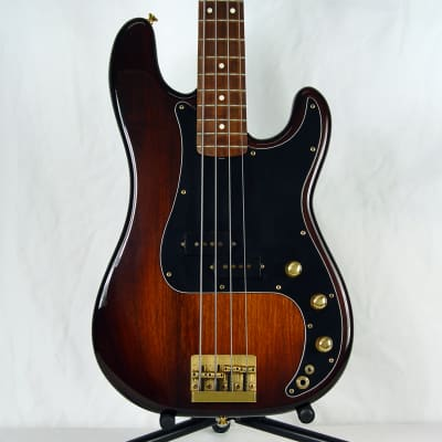 1982 Fender Precision Bass Special Solid Walnut Gold Hardware w/ 57 62 AVRI Tweed Case & Manual for sale
