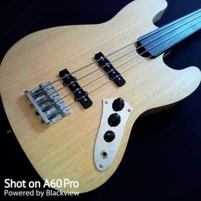 Handmade Fretless Jazz Bass 4 strings 2020 natural oil