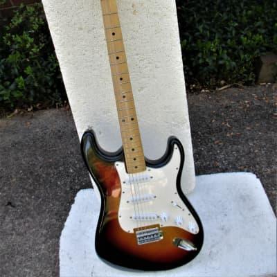 Cortez  Stratocaster Style  Guitar, 1970's, Japan,  Sunburst, Maple Neck, Gig Bag for sale