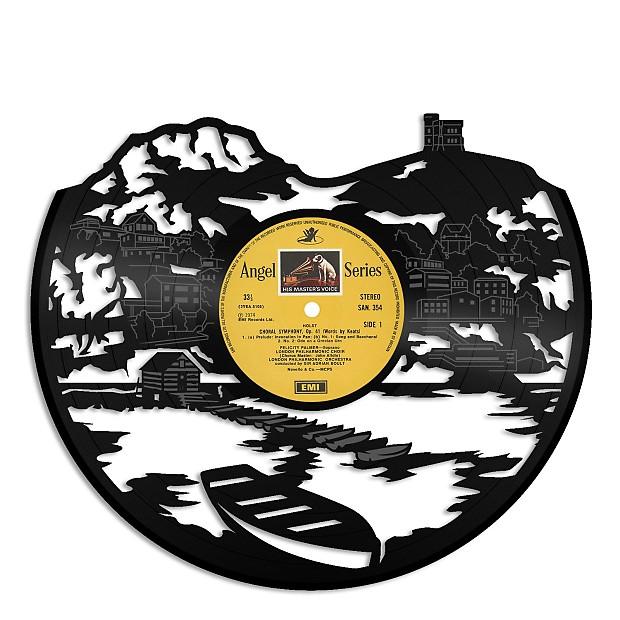 Newfoundland Canada Skyline Vinyl Wall Art - Beige / No Frame | Reverb