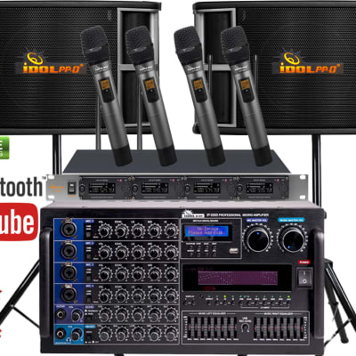 IDOlpro Full Set 6000W Karaoke System With No Feedback & Noise Cancellation
