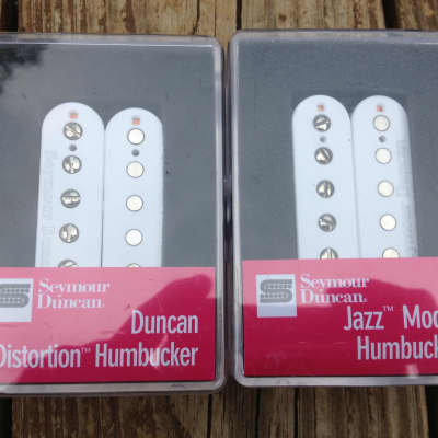 Seymour Duncan Distortion SH-6 Bridge SH-2 Jazz Neck Humbucker Pickup Set White