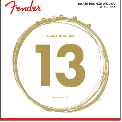 Fender 80/20 Bronze Acoustic Guitar Strings - Ball End, 13-56 for sale